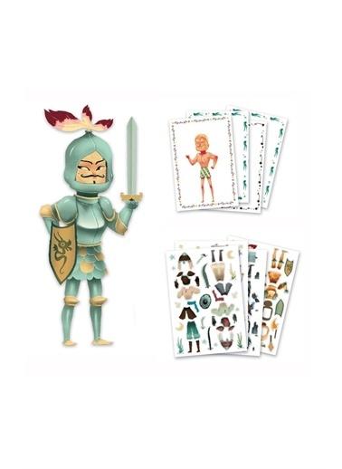 Djeco Djeco Kağıt Giydirme Seti / Knights Pembe